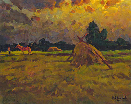 "Sergey Belikov. ""Red horse in a mown meadow"" - photo 0"