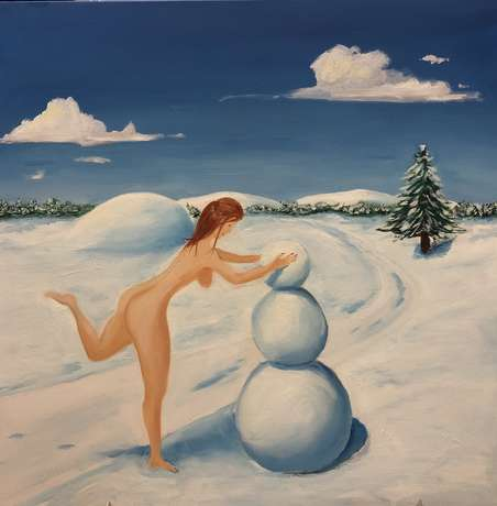 Oleg Gore. Girl and snowman - photo 0