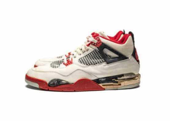 "Air Jordan 4 ""Fire Red"" Game-Worn Signed Sneaker"
