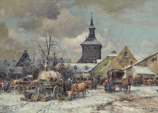 Karl Stulmüller. Winter livestock market | 1859-1830