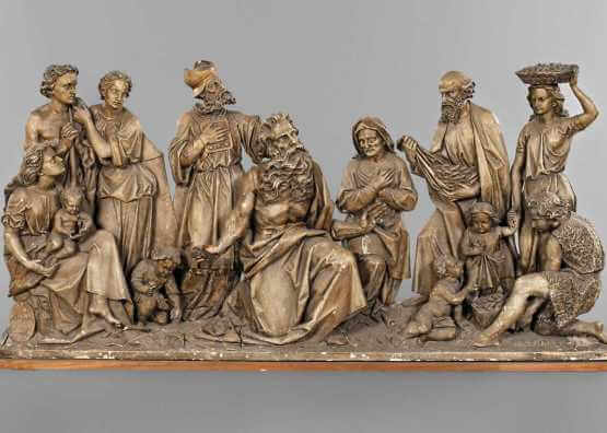 Josef Beyrer. Group of carved figures   1864 year