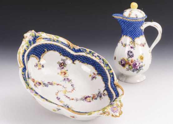 Cruche avec bol | Porcelaine de Meissen, vers 1750