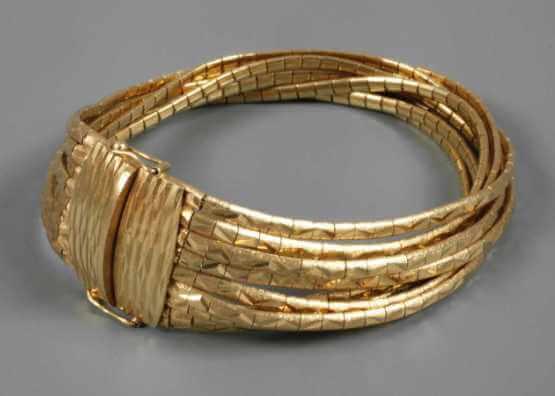 Gold bracelet Mehrreihiges   around 1980