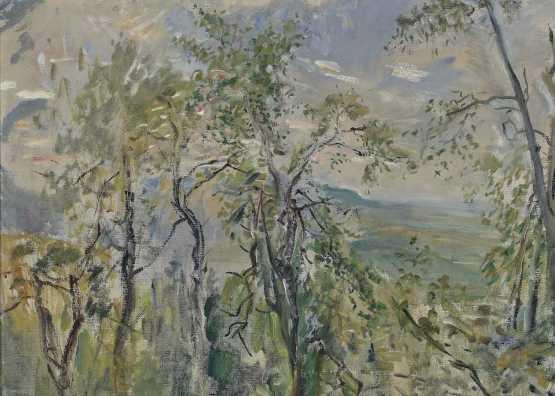 Max Slevogt. Forest landscape near Neukastel, treetops | 1921 year