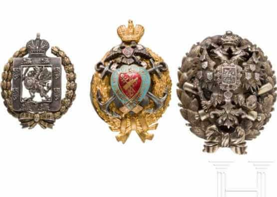 Drei Abzeichen | Russland, um 1910/15