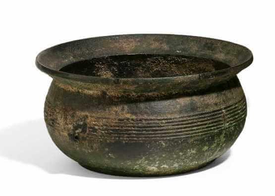 Редкая бронзовая чаша | Китай, Западная династия Хань