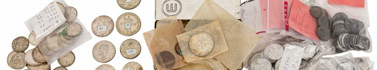 Coins, medals, postage stamps, historical items
