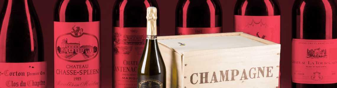 Alte Weine und Spirituosen