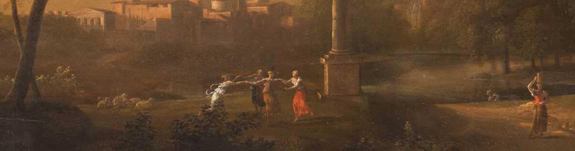 Skulpturen und Altemeister-Gemälde