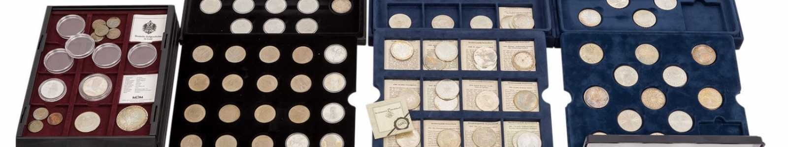 Coins, medals, stamps, historics