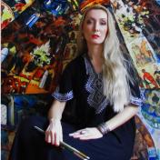 Painter Kateryna Bortsova