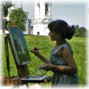 Painter Tatyana Chepkasova