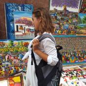Painter Elena Tachkina