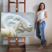 Painter Olga Zaitseva