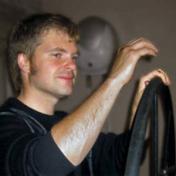 Painter Leonid Stroganov