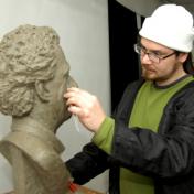 Sculptor Alexey Bykov