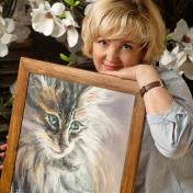 Painter Nataliia Zhyzhko