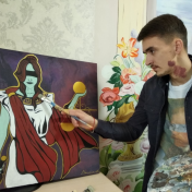 Painter Maksim Voloshko