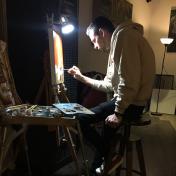 Painter Oleg Markov