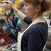 Painter Marina Lagutina