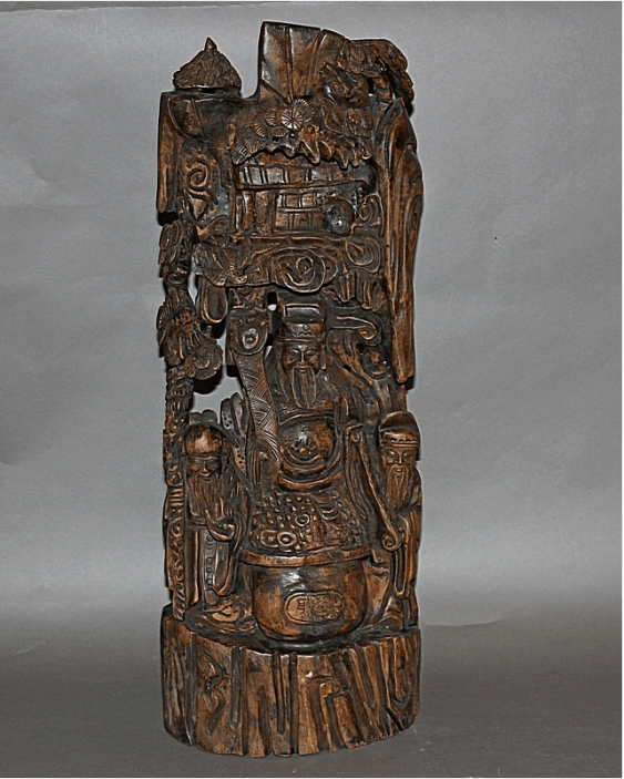 China, late XIX century, wood, carving - photo 1