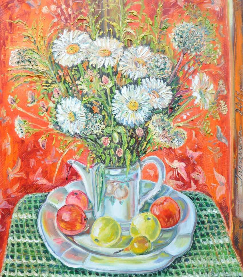 Irina Garshina. still life with daisies - photo 1