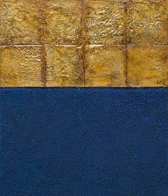 Nerseh Khalatyan. NV 03 Gold squares with blue - photo 1