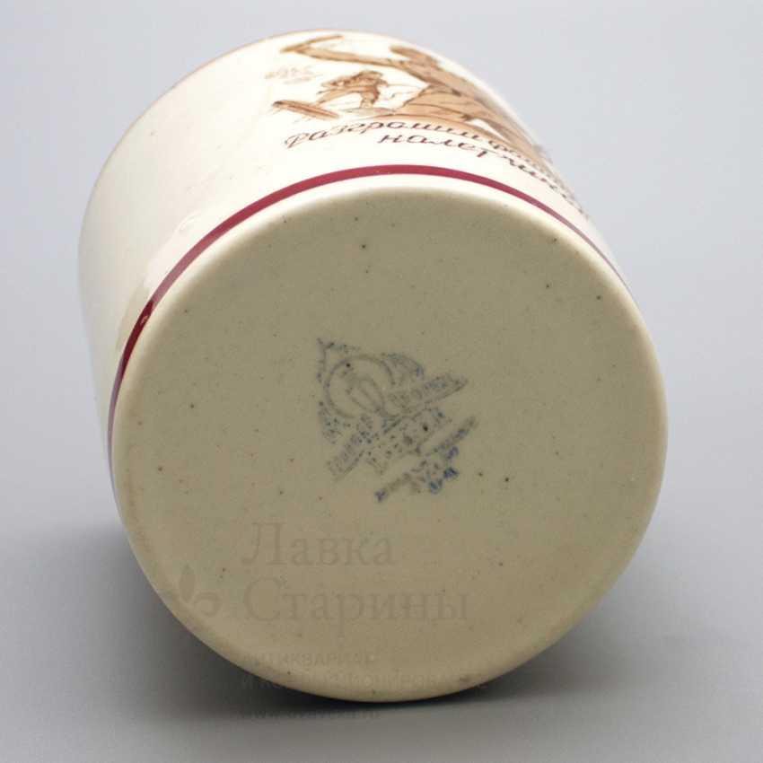 "Campaign Cup ""Crush the fascist invaders"", porcelain, Dulevo, USSR - photo 4"