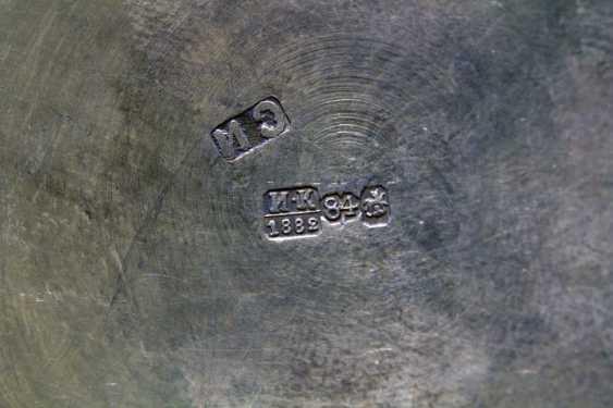 "Antique silver holder in the Russian style ""Tea Popigai, but Romak serve"", 84 sample, 1882 - photo 5"
