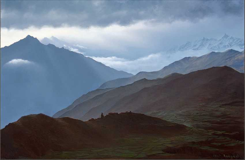 "Allan Rannu. ""FAN OF A FAN THE EARTH AND THE SKY (SACRED VALLEY OF MUKTINATH)"" - photo 1"