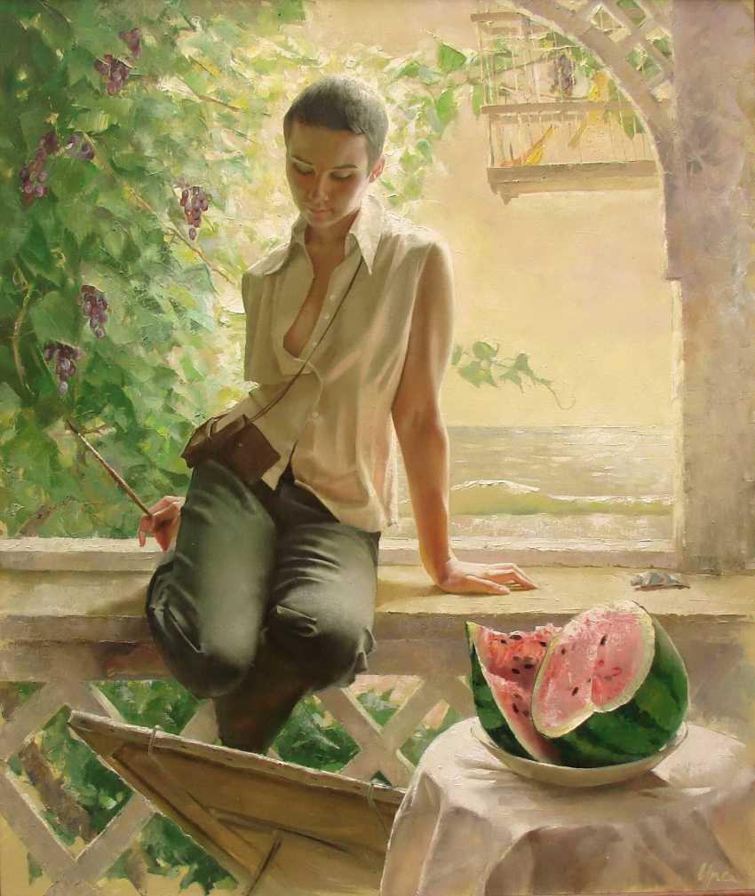 Ira Protsenko. Drawing a watermelon - photo 1