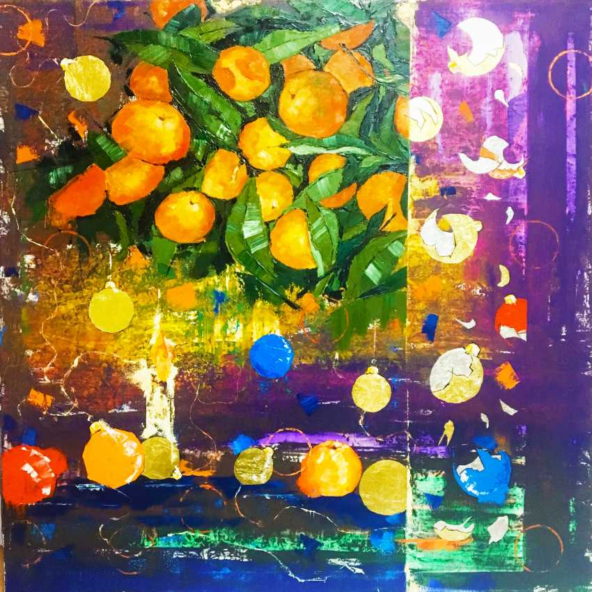 "Eugene Matiushenko. ""Tangerines with Christmas tree decoration"" - photo 1"