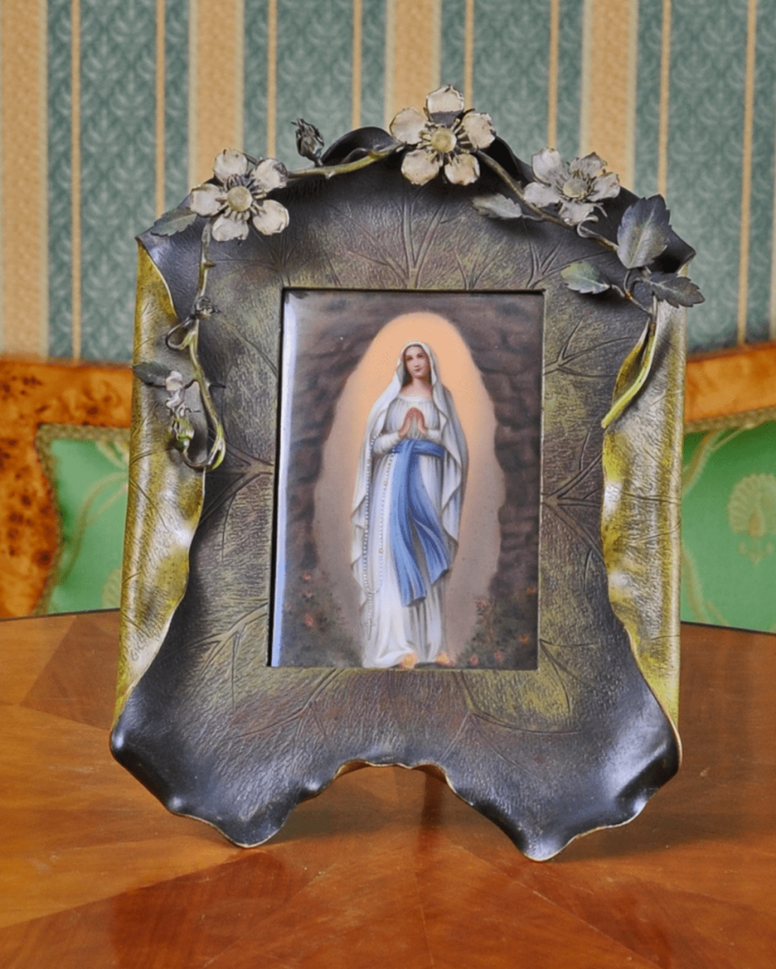 Vienna, the end of XIX century porcelain, painting; frame - bronze - photo 1