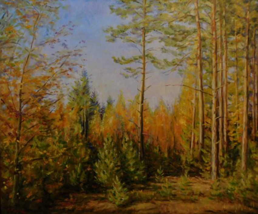 Viktor Zhukov. Golden autumn in the forest. - photo 1