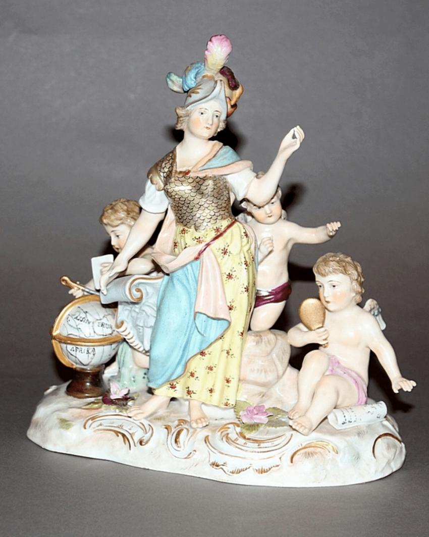 Vienna, the end of XIX century porcelain, overglaze polychrome painting - photo 1