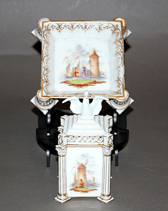 Vienna, the end of XIX century porcelain, overglaze painting - photo 2