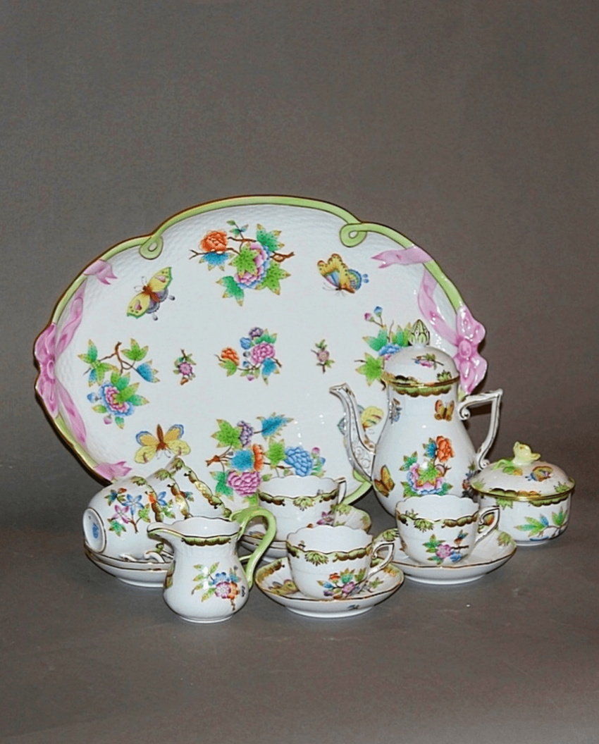 Hungary, Herend, 1970 - ies, porcelain, decor Victoria - photo 1