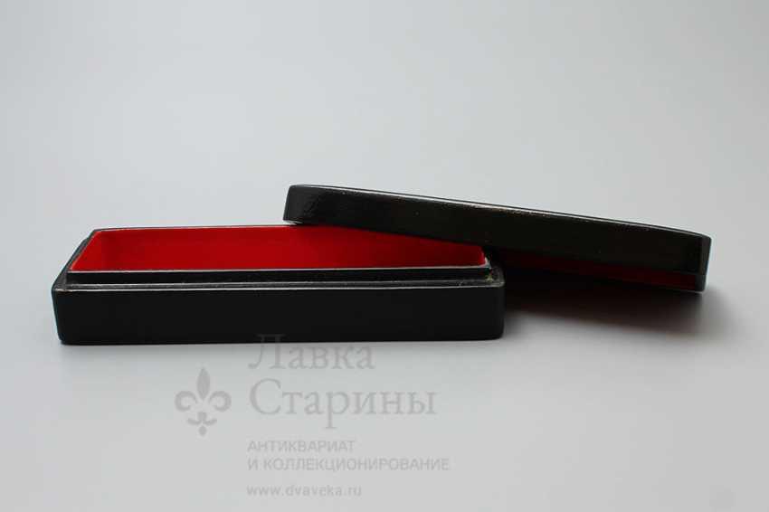 """Soviet propaganda lacquer box """"Attack"""", papier-mache, lacquer, 1960-ies - photo 5"""