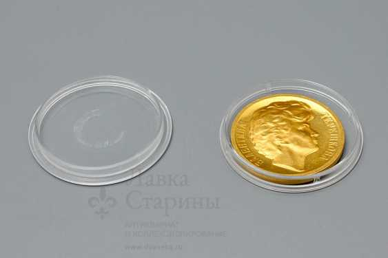"""Commemorative gold medal """"Valentina Tereshkova. Space flight first woman in the world on June 16-19, 1963"""", gold 900 samples, USSR, 1960s - photo 3"""