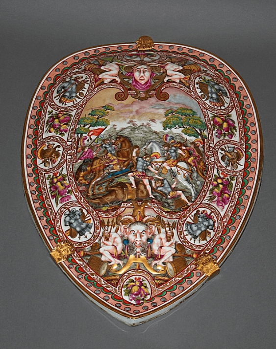 Porcelain shield in the style of Capodimonte - photo 1