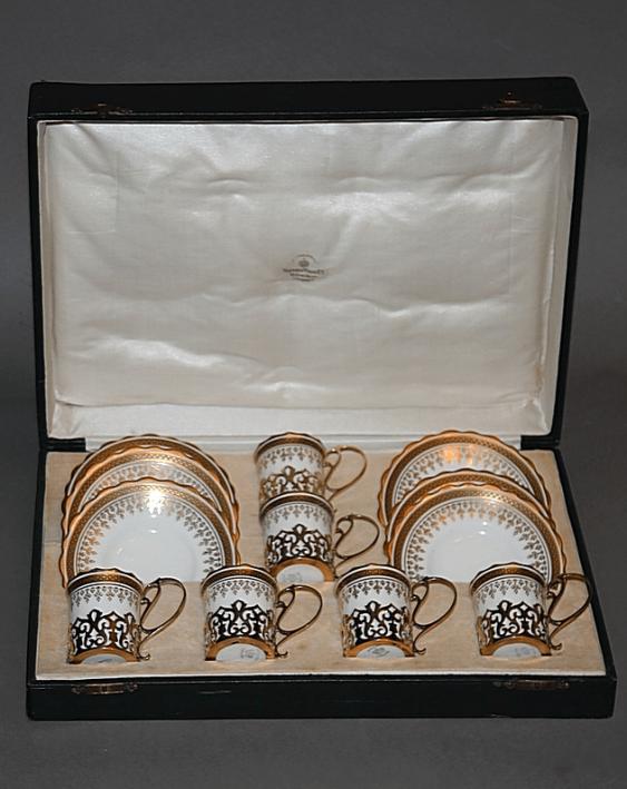 "Six coffee pairs ""Aynsley China Ltd"" - photo 1"