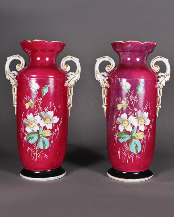 Vases pair of XIX century porcelain - photo 2