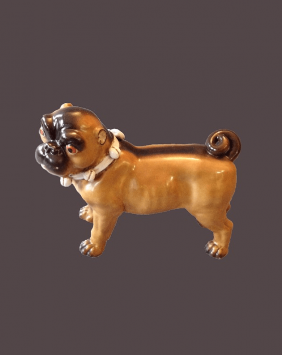 "A statuette ""a Dog""the end of the XIX century, porcelain - photo 1"