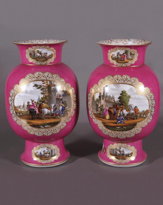 Dresden vases,1860s-1880s years, China - photo 1