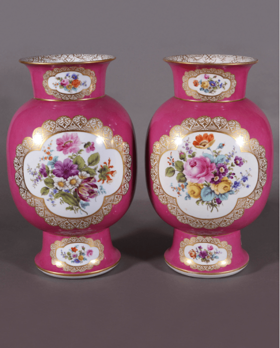 Dresden vases,1860s-1880s years, China - photo 2