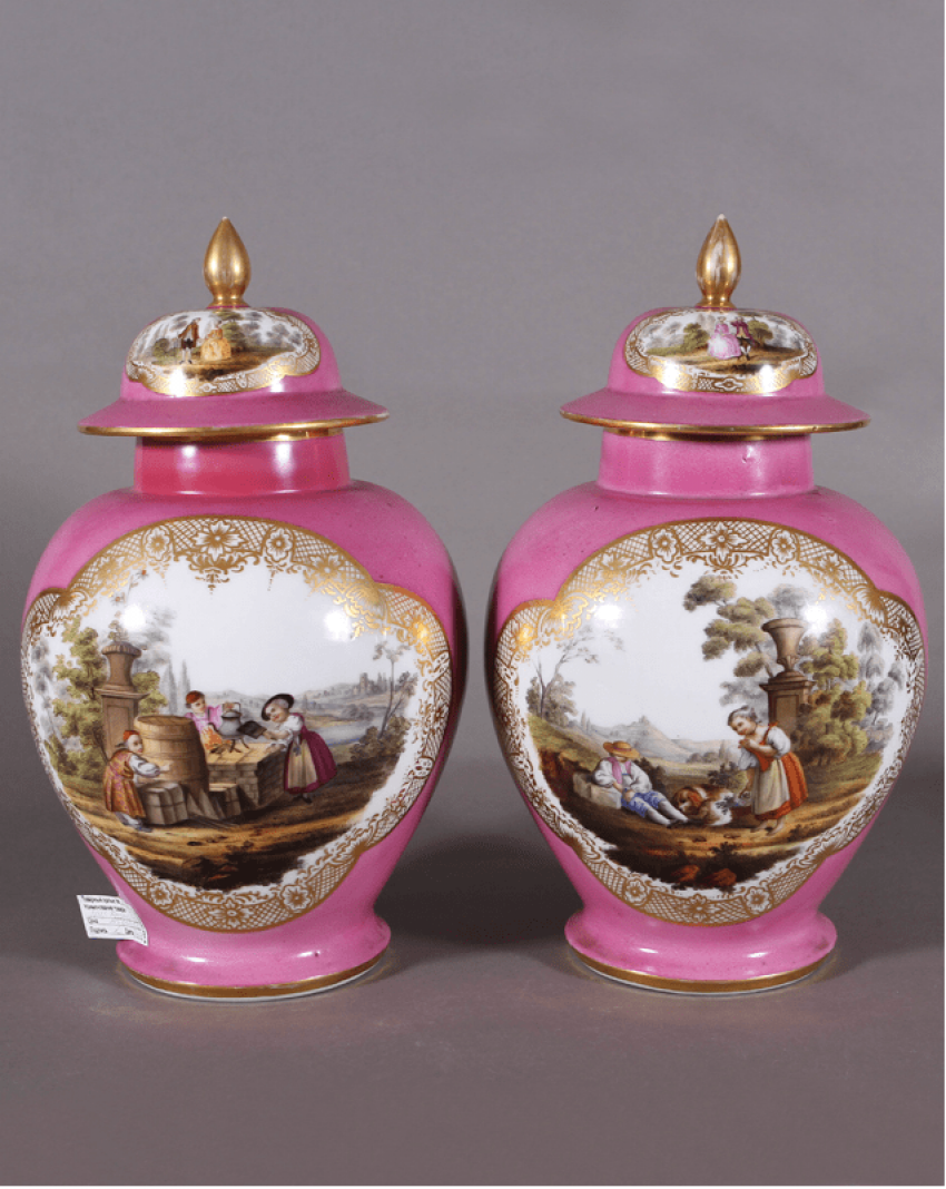 A pair of Dresden vases, 1860s-1880s years, China - photo 2