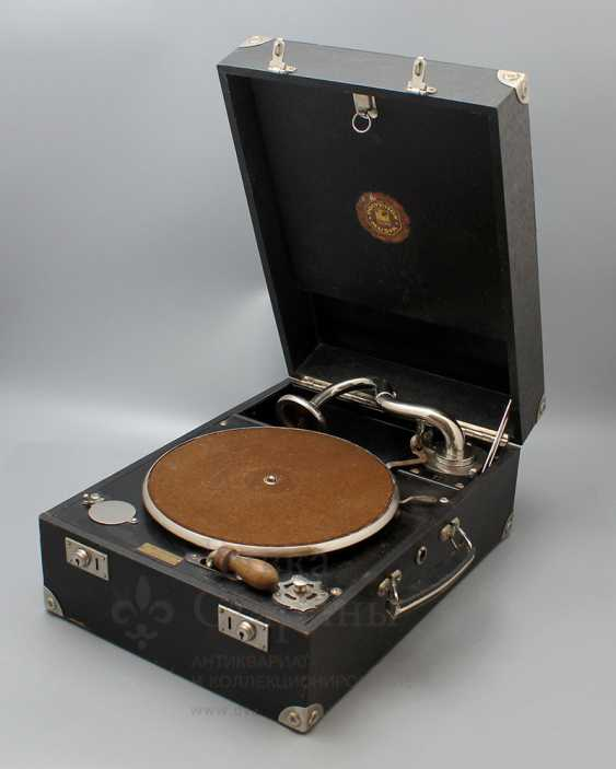"Antique gramophone ""Polyphon Musik, Frans Lofstrom"", Sweden - photo 2"
