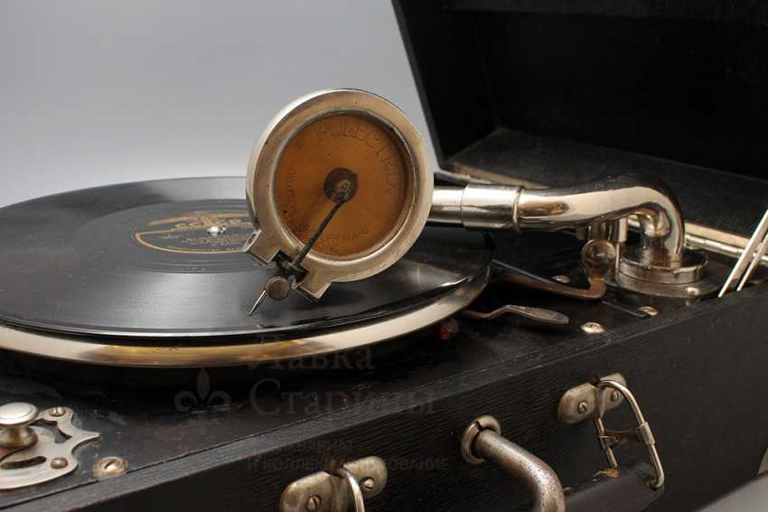 "Antique gramophone ""Polyphon Musik, Frans Lofstrom"", Sweden - photo 3"