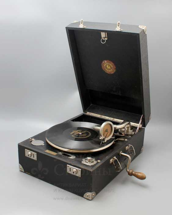 "Antique gramophone ""Polyphon Musik, Frans Lofstrom"", Sweden - photo 1"