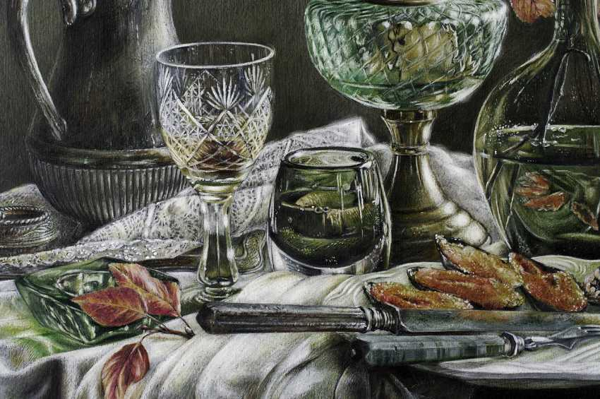 Evgeny Borovik. Still life with mussels, physalis and lime. - photo 4